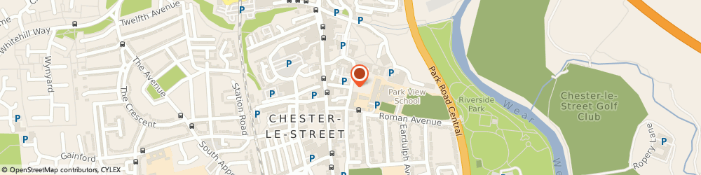 Route/map/directions to Park View Community School, DH3 3QA Chester Le Street, CHURCH CHARE