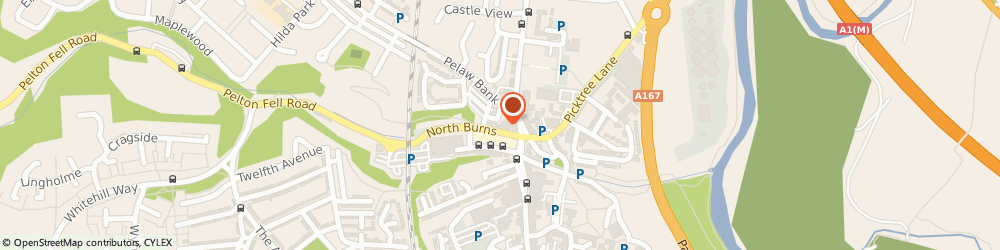 Route/map/directions to Domino's Pizza - Chester Le Street, DH3 3TF Chester Le Street, 15 North Burns