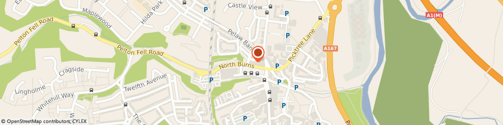 Route/map/directions to Oxfam Charity Shops Chester Le Street, DH3 3TF Chester Le Street, Tesco, South Burns