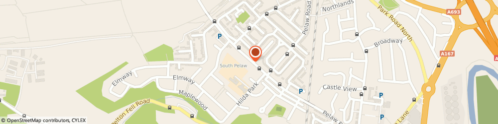 Route/map/directions to North First Aid, DH2 2JW Chester Le Street, 3 PARK VIEW
