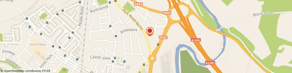 Route/map/directions to Alan Edward Walton, DH3 3SD Chester Le Street, 22 PARK ROAD NORTH