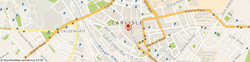 Route/map/directions to Casanova, CA3 8AG Carlisle, 12 St. Cuthberts Lane