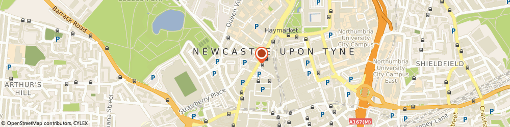 Route/map/directions to Subway, NE1 7RW Newcastle Upon Tyne, 93 Percy Street