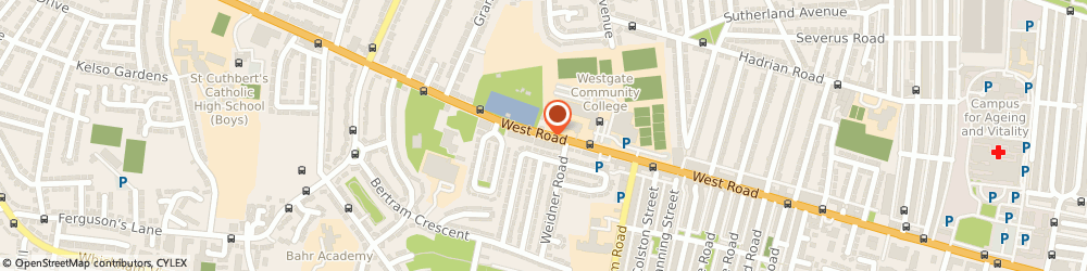 Route/map/directions to Newcastle West Jobcentre Plus, NE15 6PL Newcastle Upon Tyne, Condercum House, 171 West Road