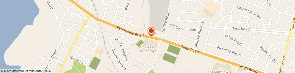 Route/map/directions to Parkhouse Garage Ltd., KA22 8AA Ardrossan, 64 Parkhouse Road