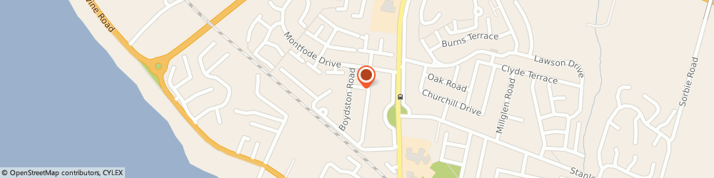 Route/map/directions to Lucky House, KA22 7LN Ardrossan, 43 Rowanside Terrace