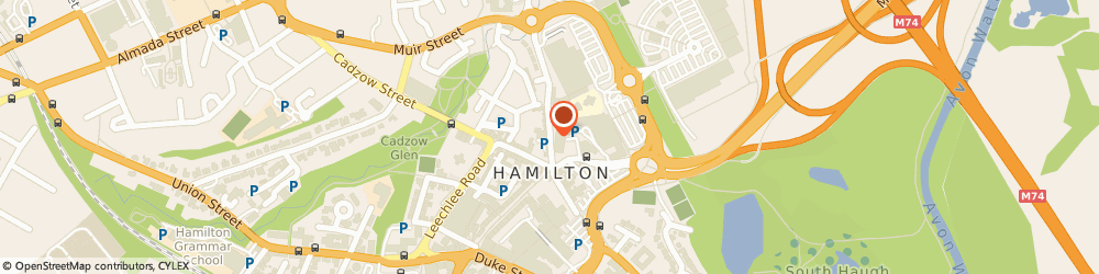 Route/map/directions to Dazzle, ML3 6BU Hamilton, 23-31 Castle St