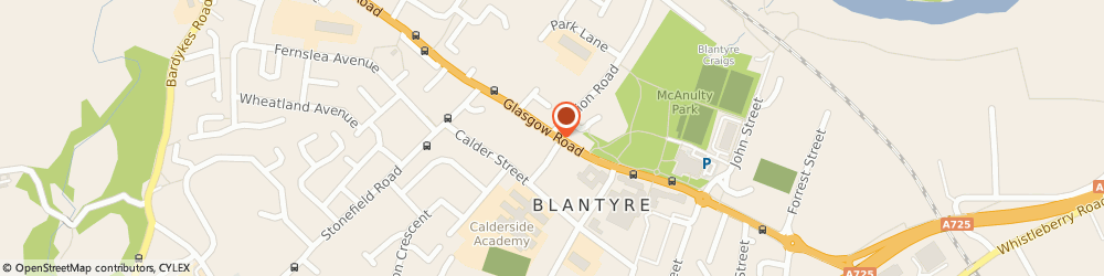 Route/map/directions to Glen Travel, G72 0YS Blantyre, 227 Glasgow Rd