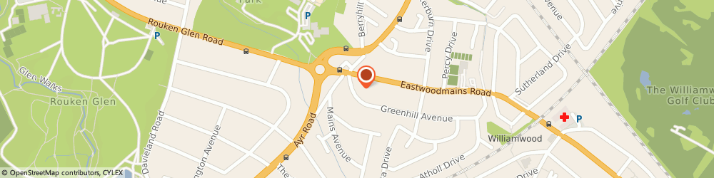 Route/map/directions to Cathcart Roofing, G46 6QX Glasgow, 1a Greenhill Avenue
