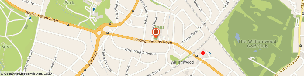 Route/map/directions to Giffnock Tennis,squash & Hockey Club, G46 6PA Giffnock, 4 Percy Dr