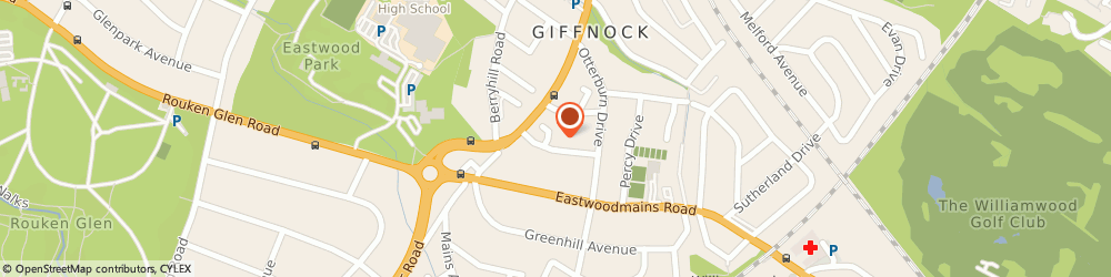 Route/map/directions to Caledonian Quality Assurance Services Ltd, G46 6QA Giffnock, 14 SEYTON AVENUE