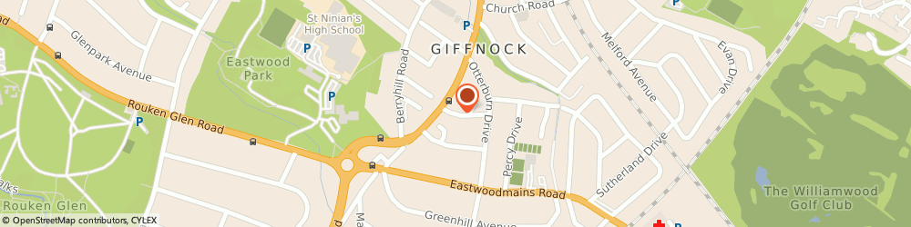 Route/map/directions to Rhuallan House, G46 6PY Giffnock, 1 Montgomery Dr