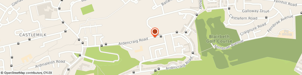 Route/map/directions to Castlemilk Youth Complex, G45 0EQ Glasgow, 39 Ardencraig Road