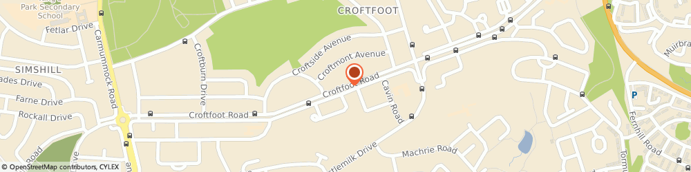 Route/map/directions to Croftfoot Service Station, G44 5LZ Glasgow, 47 Croftfoot Road