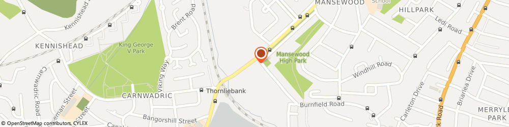 Route/map/directions to BP, G46 7NA Glasgow, 231 Thornliebank Road