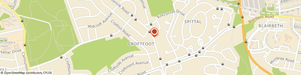 Route/map/directions to Londis - Croftfoot Filling Station, G44 5LZ Glasgow, 556 Castlemilk Road