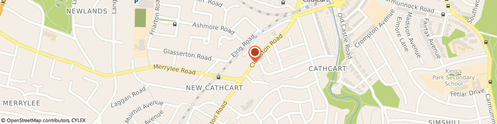 Route/map/directions to Cartvale Nursing Home, G44 3DH Glasgow, 94 Clarkston Rd