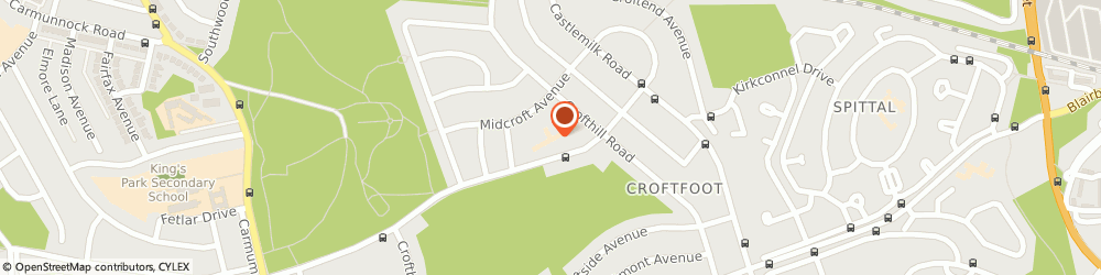 Route/map/directions to Croftfoot Primary School, G44 5QQ Glasgow, 114 Crofthill Rd