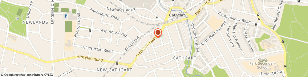 Route/map/directions to Designer Curtain Company, G44 3BQ Glasgow, 81 CLARKSTON ROAD