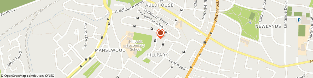 Route/map/directions to L & H Direct Plumbing & Heating Ltd, G43 2SD Glasgow, HILLPARK DRIVE