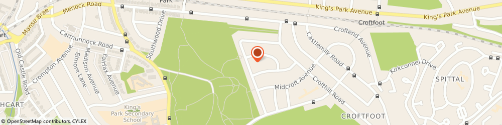 Route/map/directions to G & L Pollock Garden Maintenance, G44 5RR Glasgow, 115 GLENCROFT ROAD