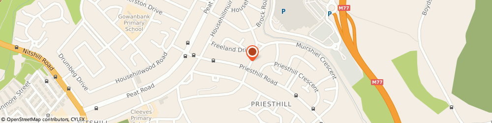 Route/map/directions to Alcoholics Anonymous, G53 6QL Glasgow, 100 Priesthill Rd, Priesthill