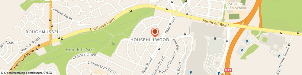 Route/map/directions to Househill Community Education Centre, G53 6BB Glasgow, 80 HOUSEHILLWOOD ROAD