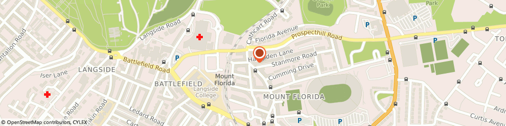 Route/map/directions to Therapeutic Hands, G42 9XJ Glasgow, 1033 Cathcart Rd