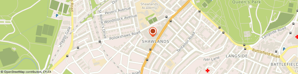 Route/map/directions to The Blind Guy, G41 3NN Glasgow, Shawlands Arcade Kilmarnock Rd