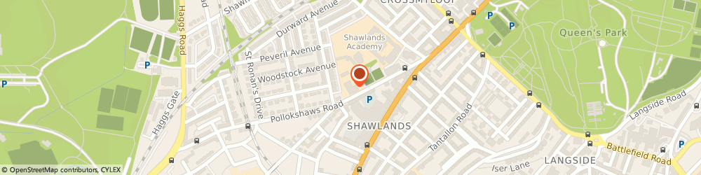 Route/map/directions to Shawlands Out Of School Care, G41 3QP Glasgow, 1284 Pollokshaws Rd