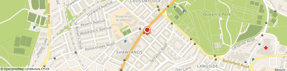 Route/map/directions to Clydesdale Bank PLC, G41 3NY Glasgow, 21 Kilmarnock Road;Shawlands