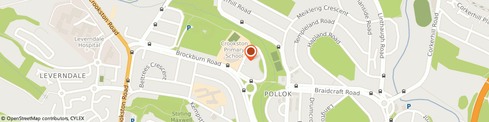 Route/map/directions to Crookston Castle Primary School, G53 5SD Glasgow, GLENSIDE AVENUE