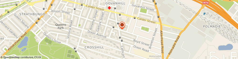 Route/map/directions to Clydesdale Bank PLC, G42 8AD Glasgow, 621 CATHCART ROAD