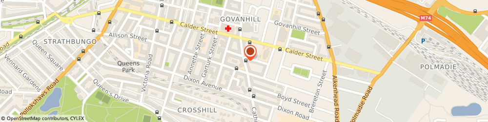 Route/map/directions to Xpress Travel, G42 8AB Glasgow, 584 Cathcart Road