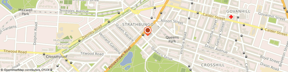 Route/map/directions to Central Letting Services, G41 2AA Glasgow, 737 Pollokshaws Rd