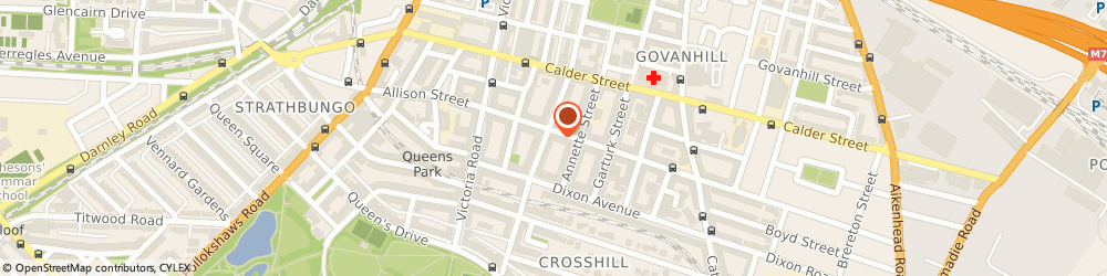 Route/map/directions to Glasgow Sweet Centre, G42 8RS Glasgow, 202 Allison St