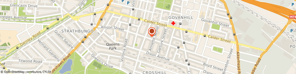 Route/map/directions to Makka Food Store, G42 8RU Glasgow, 205-207 Allison St