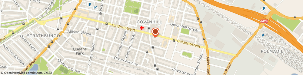Route/map/directions to The Sewing Room, G42 8SG Glasgow, 537 Cathcart Rd