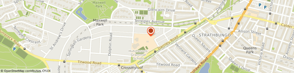 Route/map/directions to Hutchesons' Grammar School Glasgow, G41 4NW Glasgow, 21 Beaton Rd