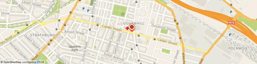 Route/map/directions to Dr Berry & Partners, G42 7DR Glasgow, 233 Calder Street