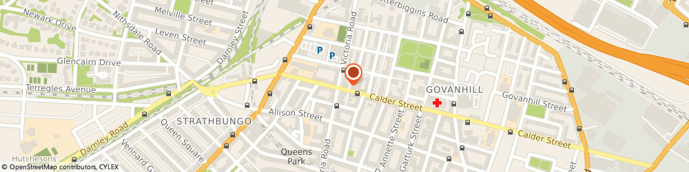 Route/map/directions to Sineads, G42 7RA Glasgow, 97 Calder Street