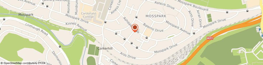 Route/map/directions to Mrs Heather Davis - Psychotherapist, G52 1QJ Glasgow, 16 Aviemore Road