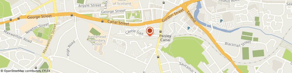 Route/map/directions to Canal Station, PA1 2HF Paisley, 1 Stow Brae