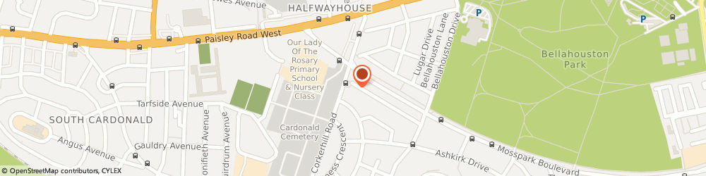 Route/map/directions to Gillian Graham Childminding, G52 1HT Glasgow, 103 Clunie Rd