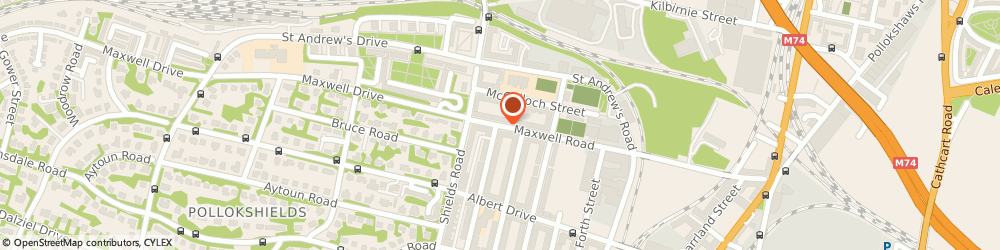 Route/map/directions to MAXWELL FOODS GLASGOW LTD, G41 1TD Glasgow, 313-317 Maxwell Road