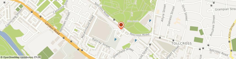 Route/map/directions to Glasgow City Council, G32 8TF Glasgow, TOLLCROSS RD, TOLLCROSS PARK