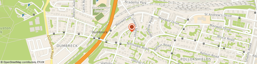 Route/map/directions to Glasgow Self Catering Apartments, G41 5AA Glasgow, 3&5 Sherbrooke Dr