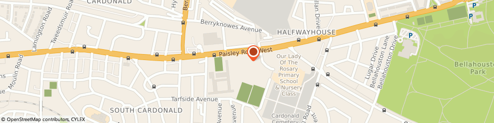 Route/map/directions to Nazareth House, G52 3QT Glasgow, 1647 Paisley Rd W