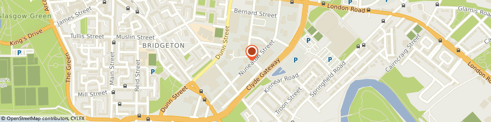 Route/map/directions to Glasgow Taxis, G40 3PX Glasgow, Taxi House, 140 Boden Street