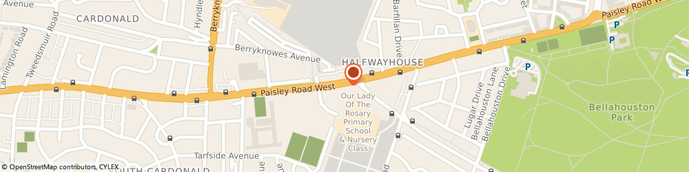 Route/map/directions to Parkway Bar, G52 3QX Glasgow, 1593 Paisley Road West